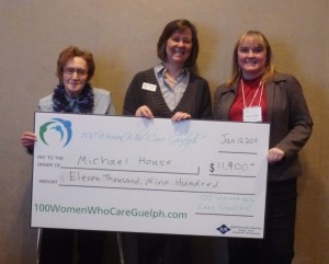 Paola Monico (presenter), Rosemarie Coombs (Michael House Executive Director, and Sharon Lewis (100 WWCG Founder)