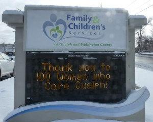 With much appreciation, from Family & Children's Services.