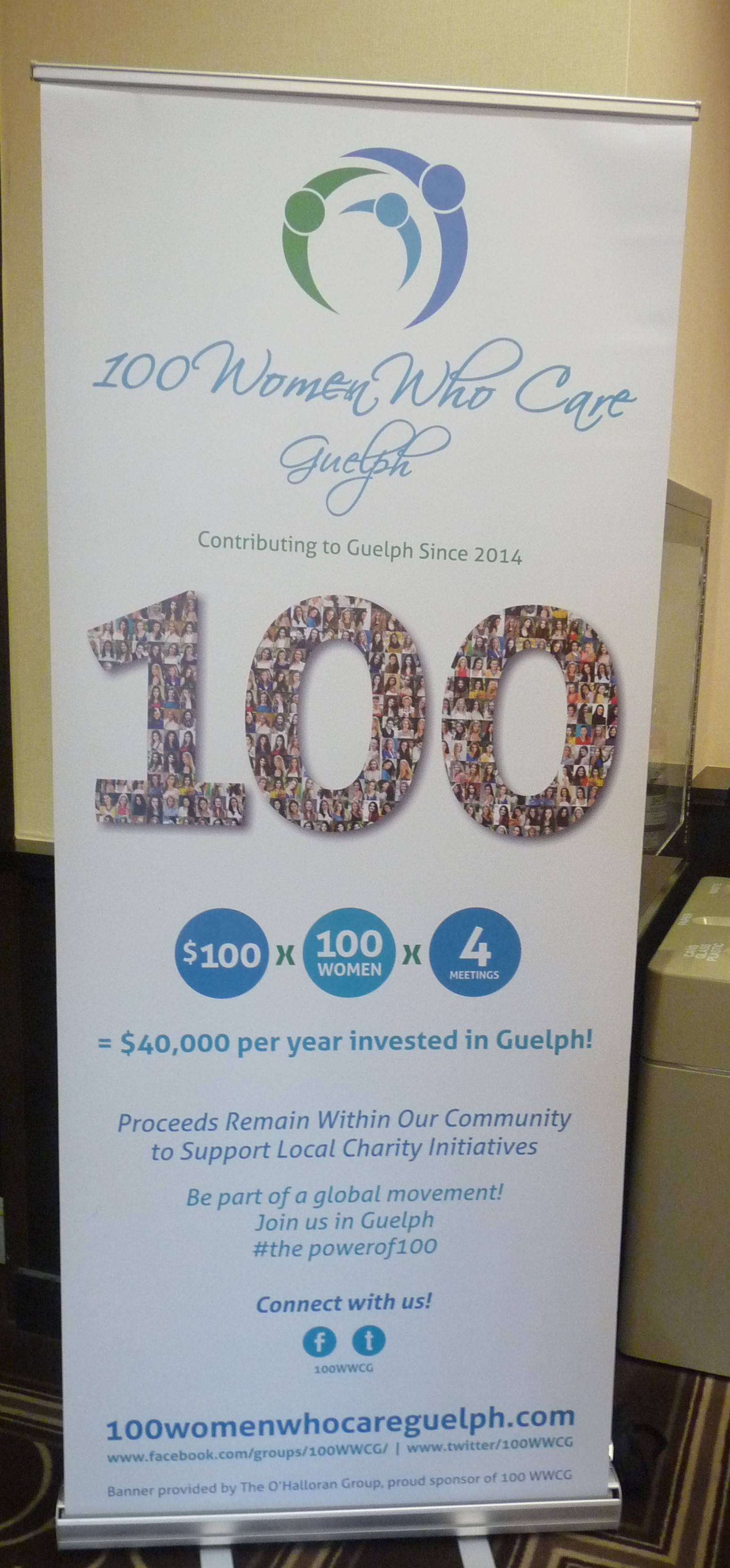 Our new 100 WWCG Banner makes its debut!